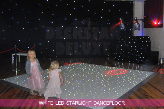 White LED Twinkling Dance Floor Hire South West