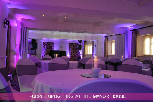 Cheltenham Wedding DJ - Purple Mood Uplighting at Manor House