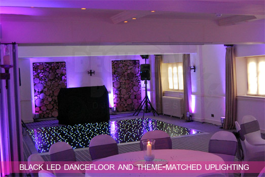 Cheltenham Wedding DJ - Black LED Starlight Dancefloor Hire