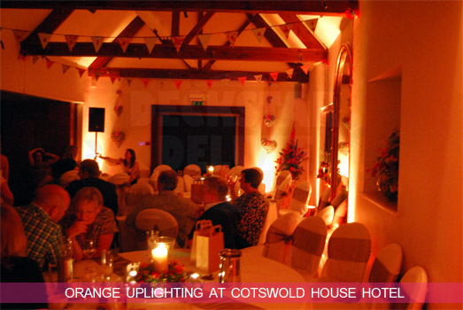 Orange LED Mood Lighting at Cotswold House Hotel