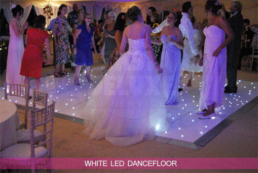 Cheltenham Wedding DJ - White LED Dancefloor Hire