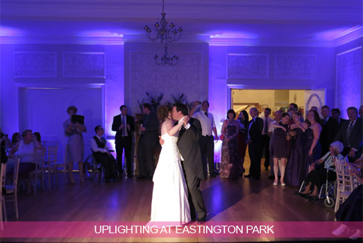 Uplighting at Eastington Park