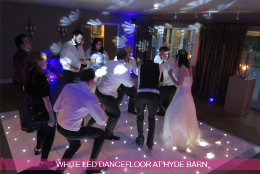 White LED Dancefloor at Hyde Barn