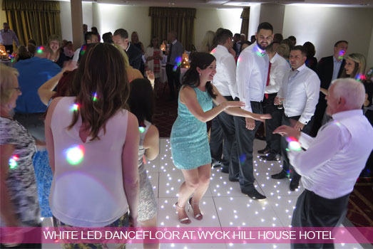 White LED Dancefloor at Wyck Hill House Hotel