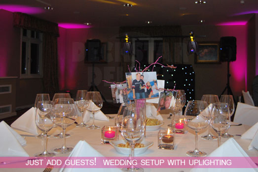 Deckstar Deluxe Wedding Disco - Contemporary Uplighting