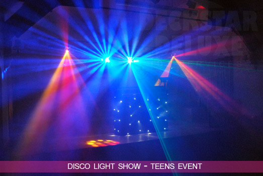 Example Teens Nightclub Light Show by Deckstar Deluxe Cheltenham