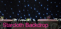 Venue Decoration with Star Cloth Backdrops by Deckstar Deluxe